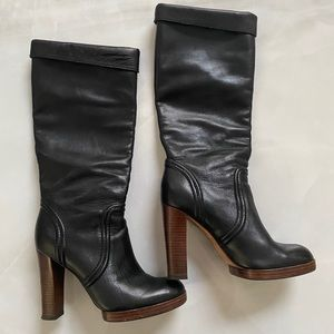Michael Kors Leather Knee High Heel Boots